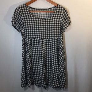 American Apparel Checkered Babydoll Dress S/XS